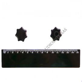 Boton Potenciometro Rotativo negro T1951 (01916)
